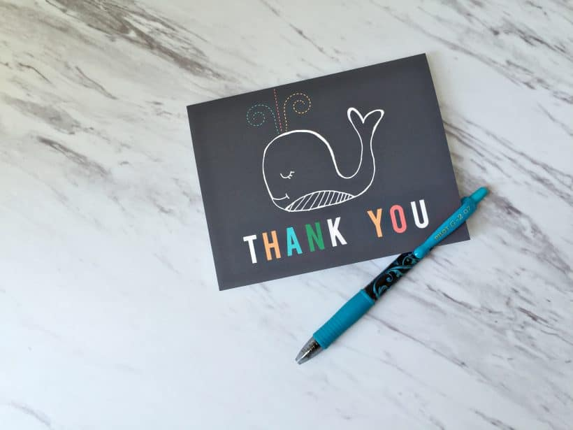 tips for writing thank you cards