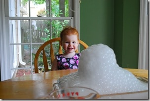dry ice and bubbles