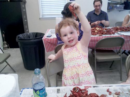 Baby likes her crawfish | Wordful Wednesday