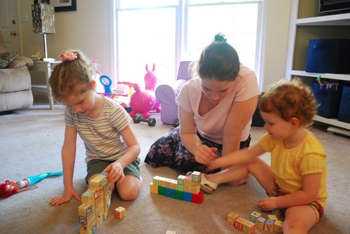 Building a Wall | Mommy and Me Monday | The 77th ed.