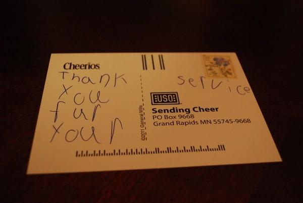 Cheerios Cheer and USO
