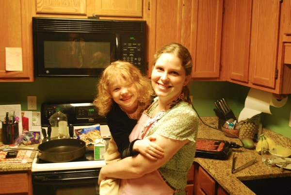 cooking with mom