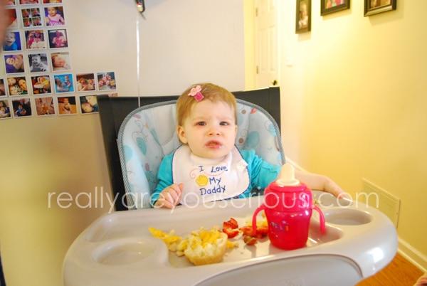 Enjoying her food