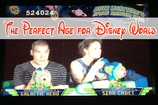 perfect age for disney world