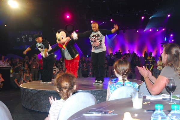 Watching Mickey dance