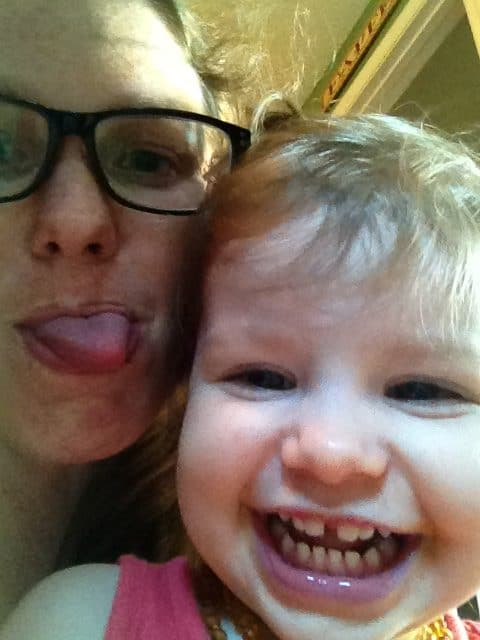 mommy and me monday silly faces with teething e