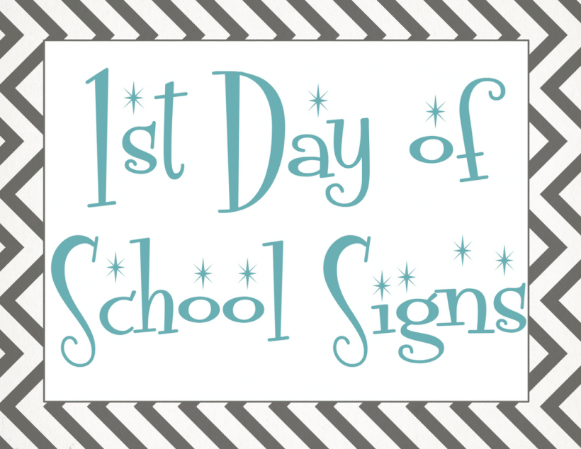 Back to School: Free First Day of School Printables