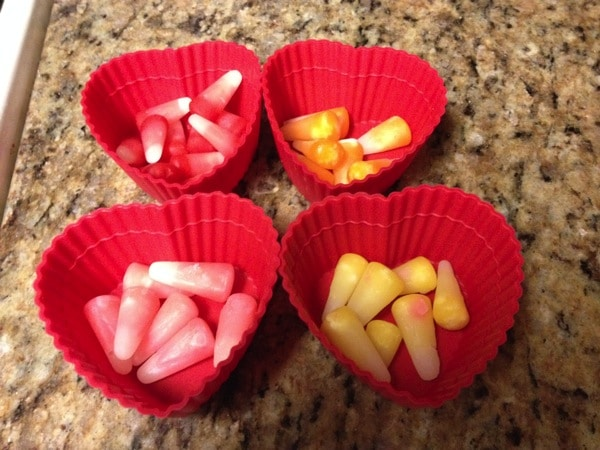 Easy Vanilla Cookies from Cake Mix with Starburst Candy Corn