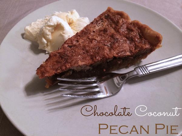 Chocoalte coconut pecan pie