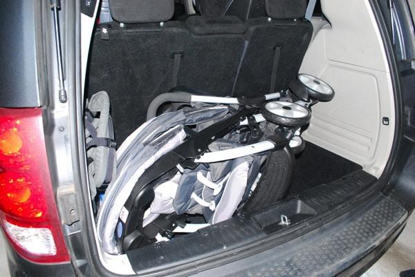 Graco Ready2Grow stroller in Dodge Caravan