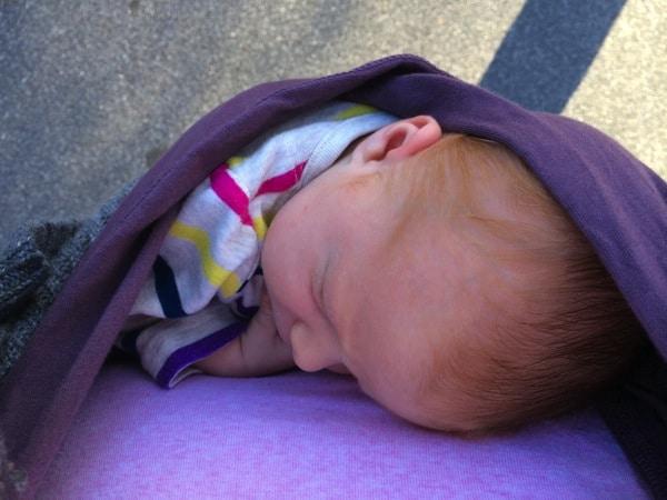 newborn in baby k'tan