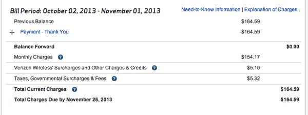 saving money on our verizon bill
