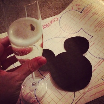 Mickey Mouse head cut out for t-shirts