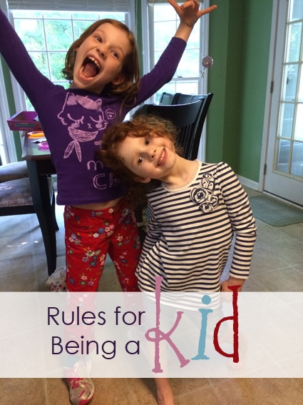 Rules For Being A Kid #PopsicleRules