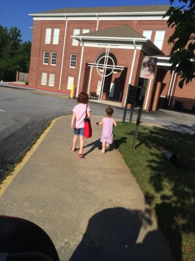 The last walk into preschool together