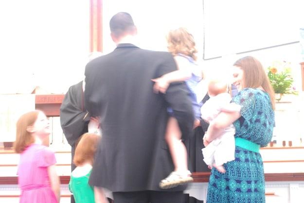 B's baptism