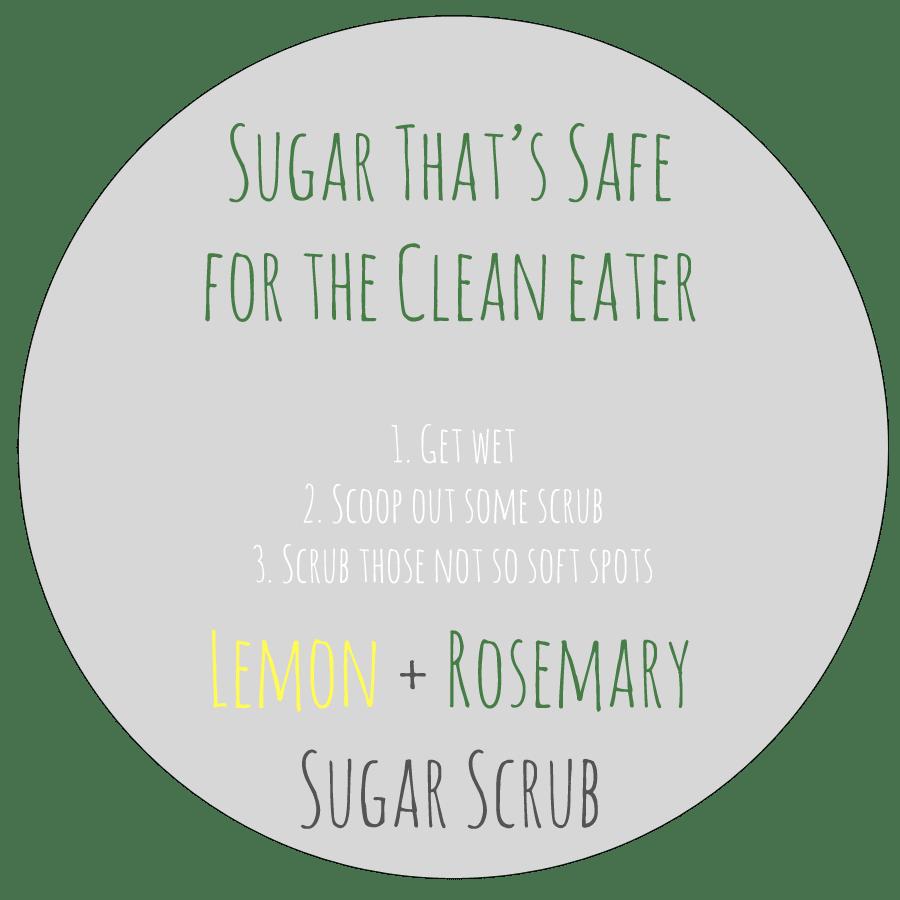 Lemon rosemary label sugar scrub