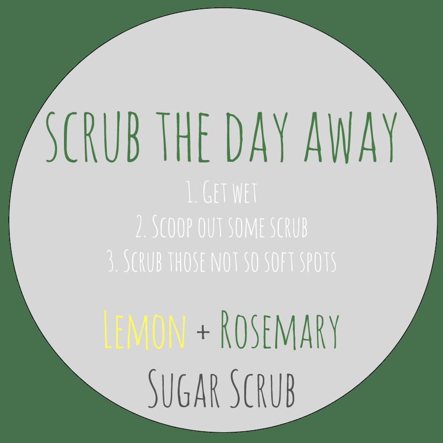 lemon rosemary sugar scrub label