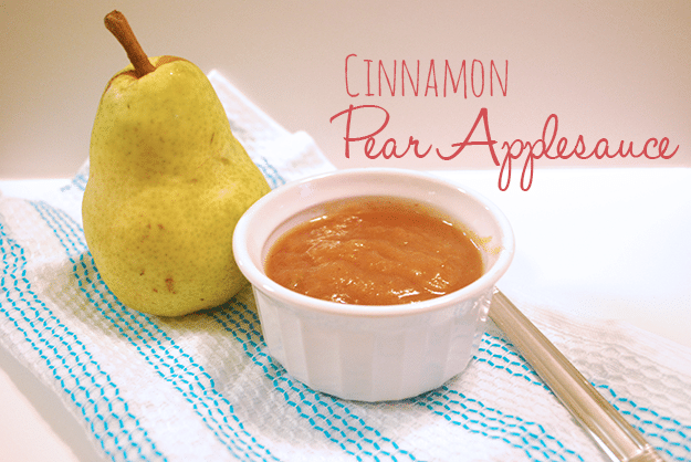 Cinnamon pear applesauce