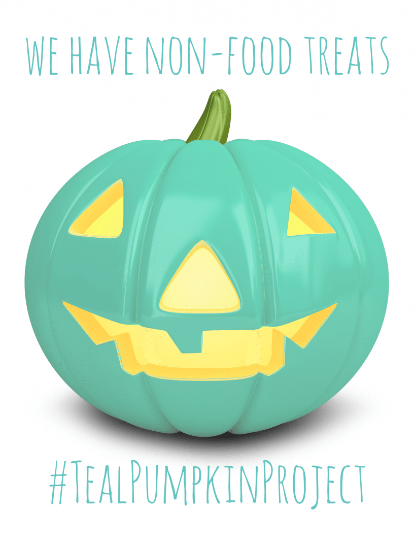 Teal Pumpkin Project Free Printable Sign and Alternative Trick-Or-Treat Ideas