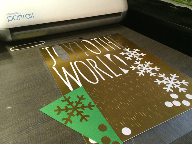 Joy to the World Banner Free Silhouette Template