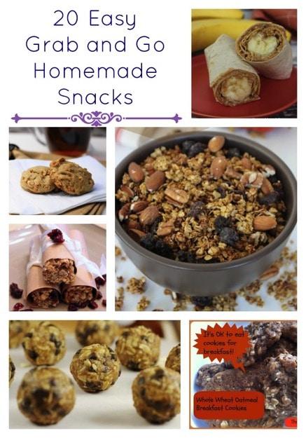 20 Easy Grab and Go Homemade Snacks