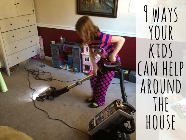 9 ways kids can help around the house