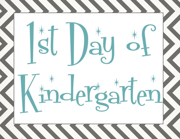 Back to school first day of school free printable