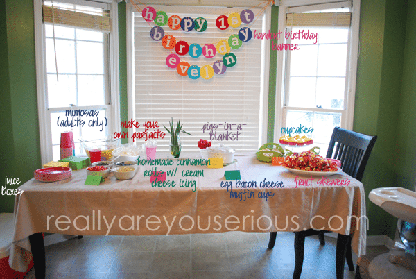 Breakfast and Pajama birthday party