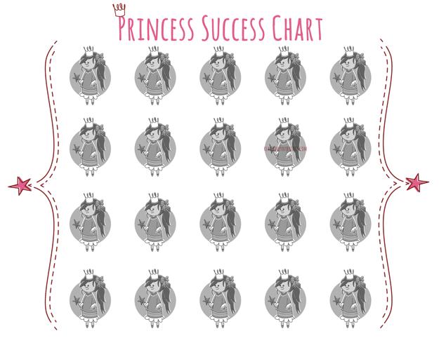 Princess Success {Potty} Chart Free Printable