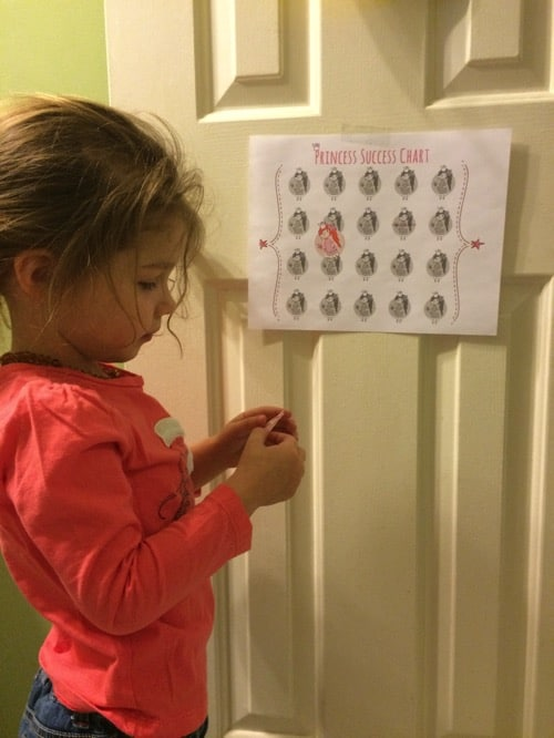 Potty Training with a Princess Success Chart (Free Printable + Silhouette File)