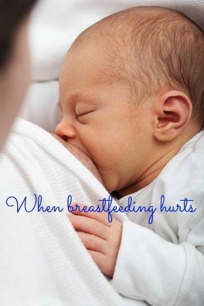 when breastfeeding hurts