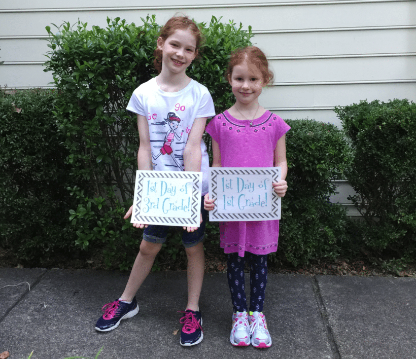 Three things I told my girls on the first day of school and every day