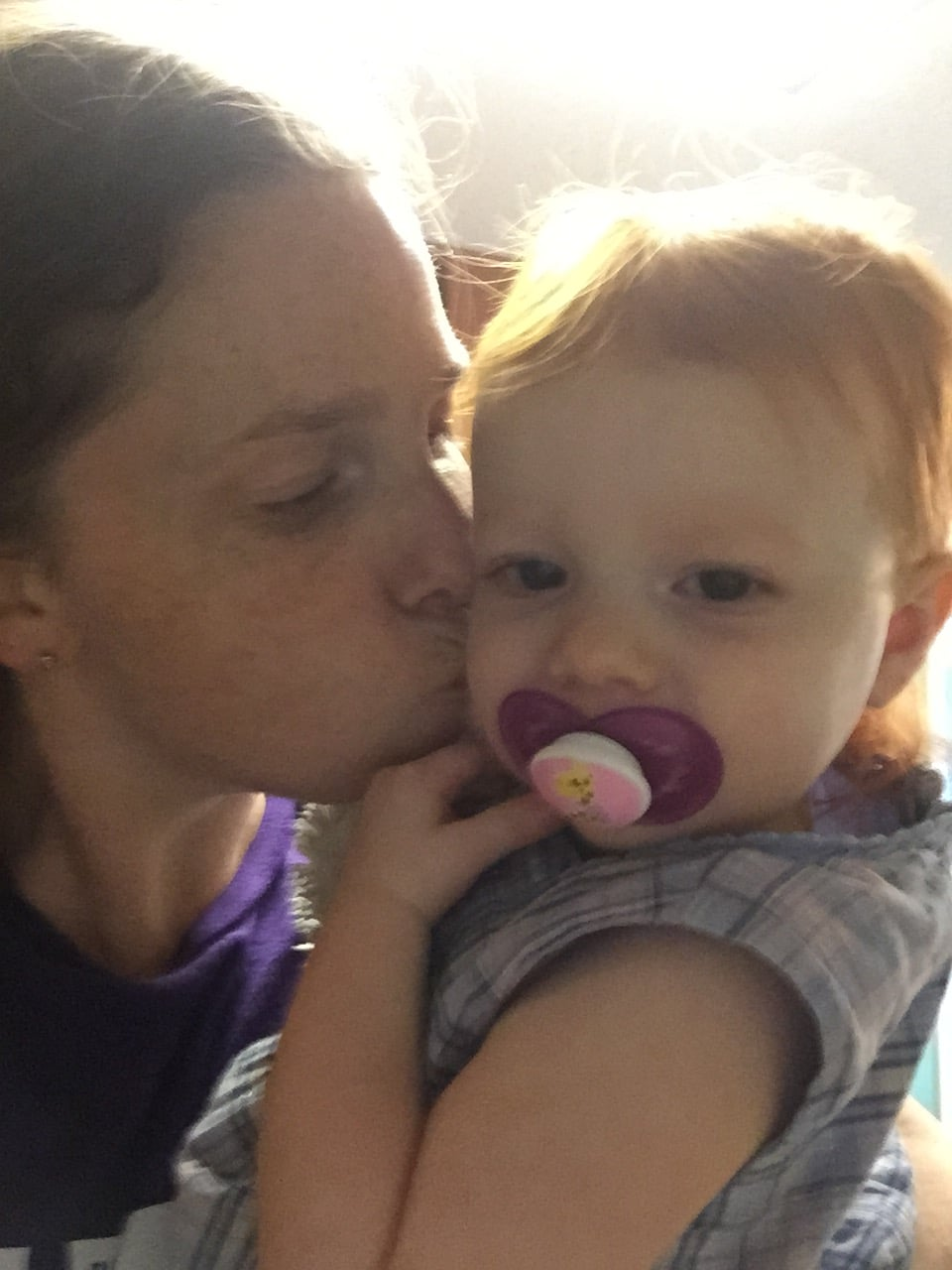 Kisses for the first week of moms morning out