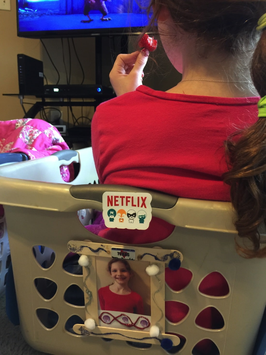 Drive-in movie at home with netflix