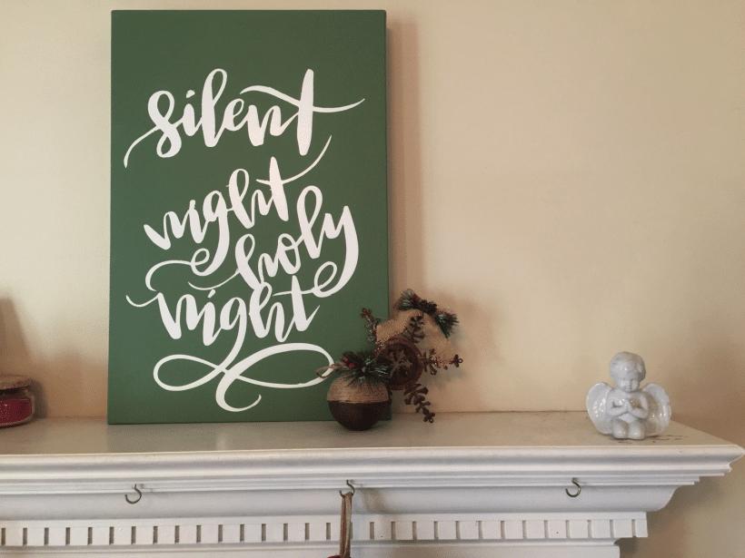 DIY Christmas Canvas Art Tutorial| Black Friday Silhouette Deals