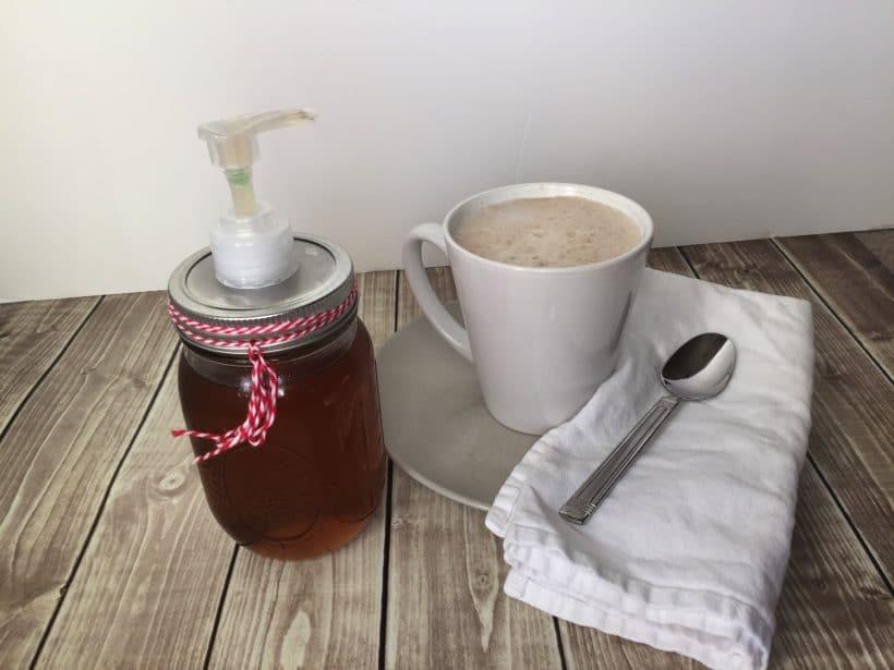 Homemade (Cinnamon) Vanilla Syrup for an Almond Milk Latte with the Ninja Coffee Bar