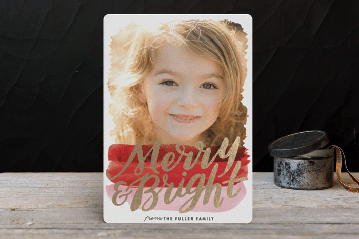 minted foil holiday card