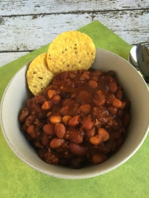 Easy 4 ingredient chili | Kids in the kitchen
