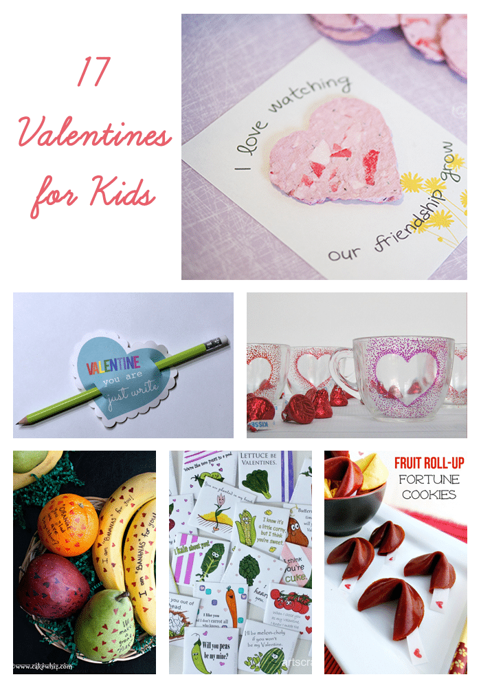 17 Valentines for Kids Ideas | Candy-free options for Valentine's Day