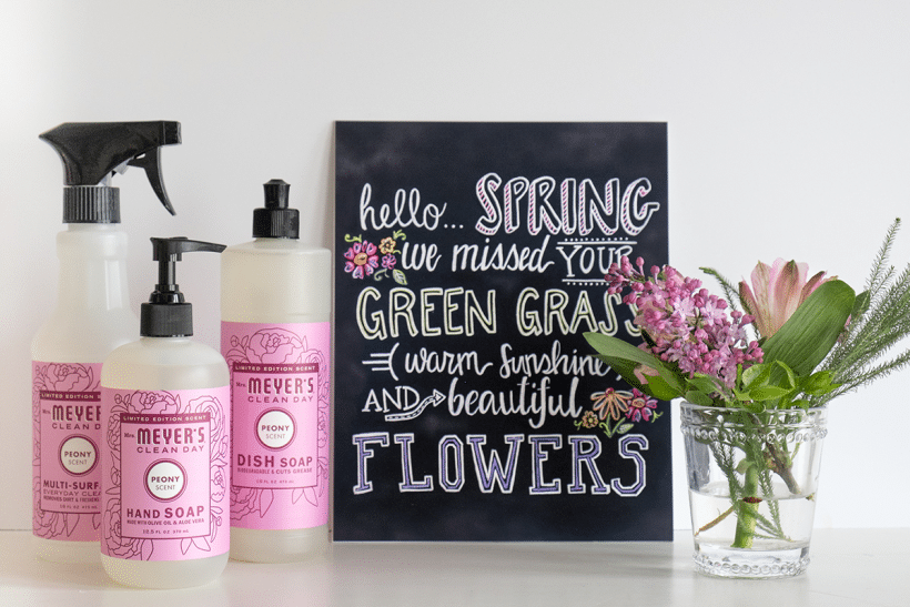 Hello Spring |  Free Mrs. Meyers Spring Cleaning Kit