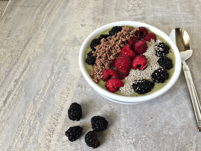Gluten and Dairy-free Green Smoothie Bowl Recipe