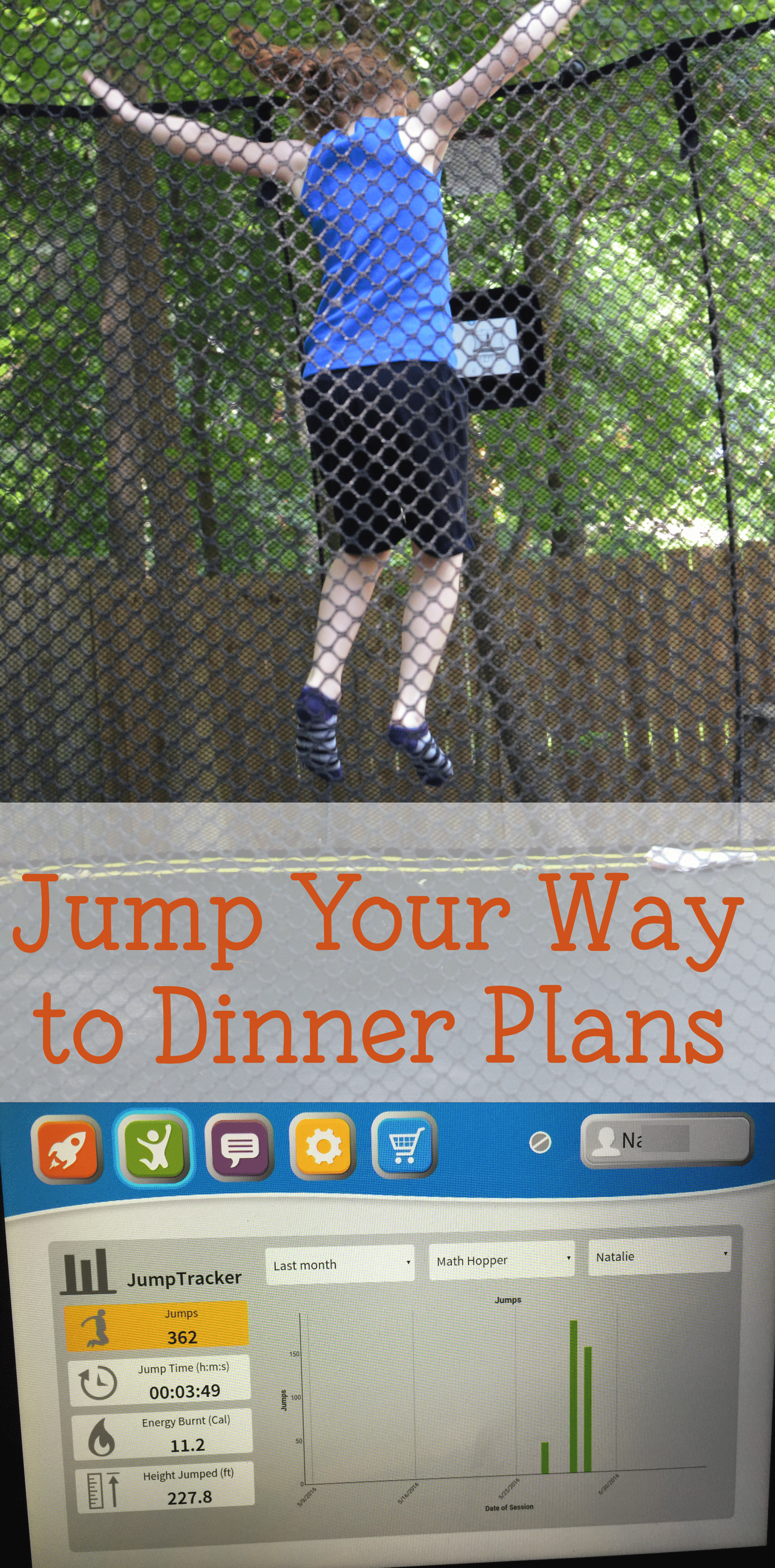 Jump your way to dinner plans