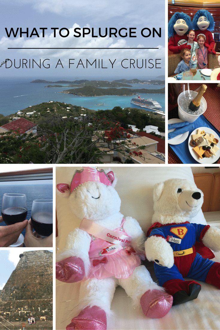 what to splurge on during a family cruise