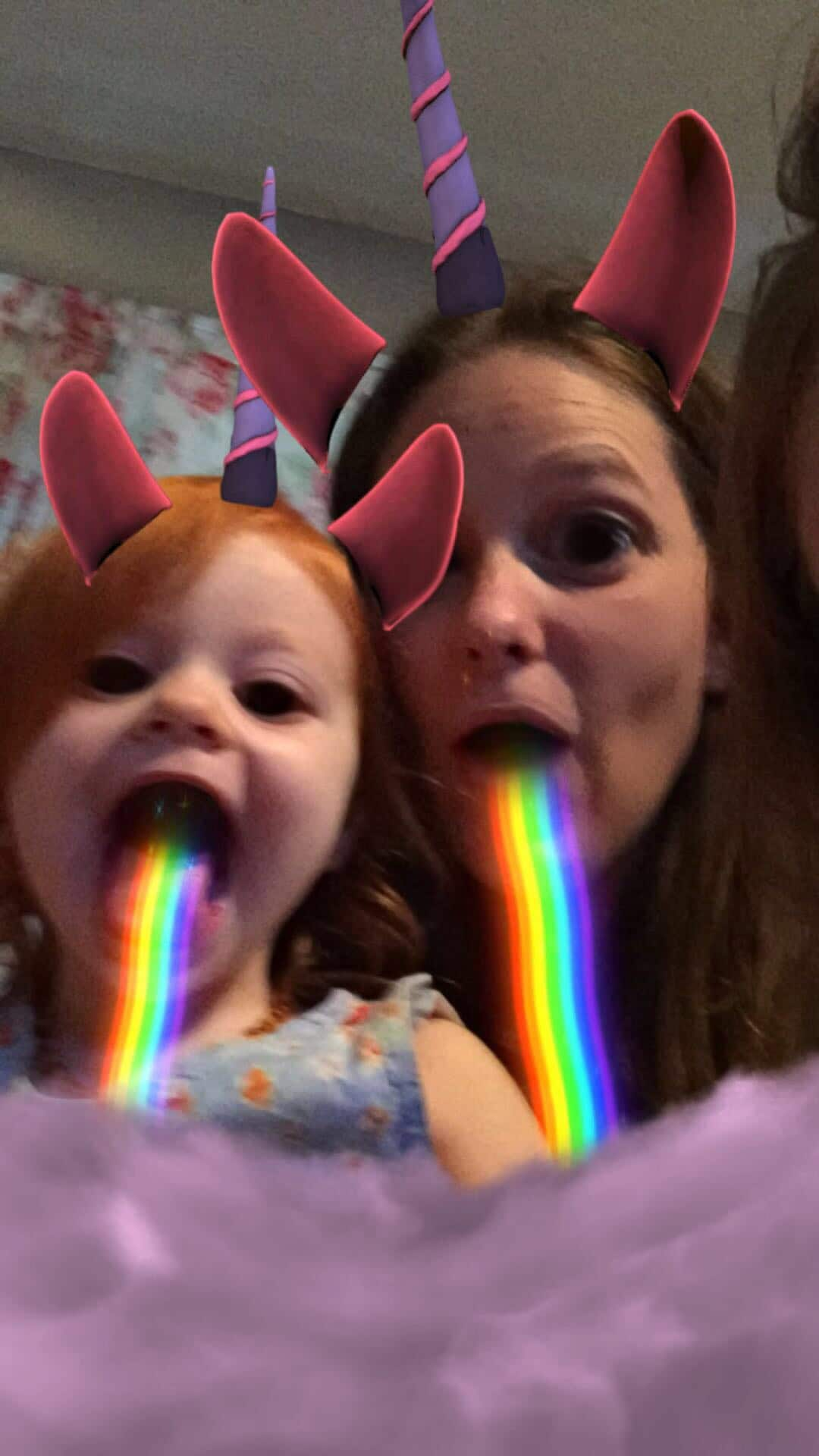 Mommy and Me Monday silly faces unicorn