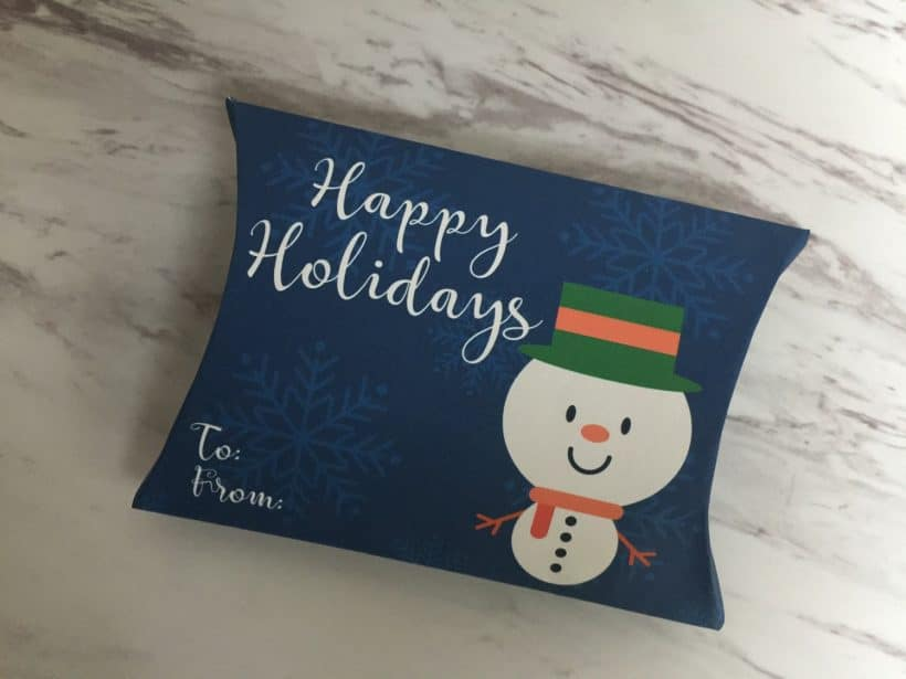 Free Christmas and Holiday Gift Pillow Printable
