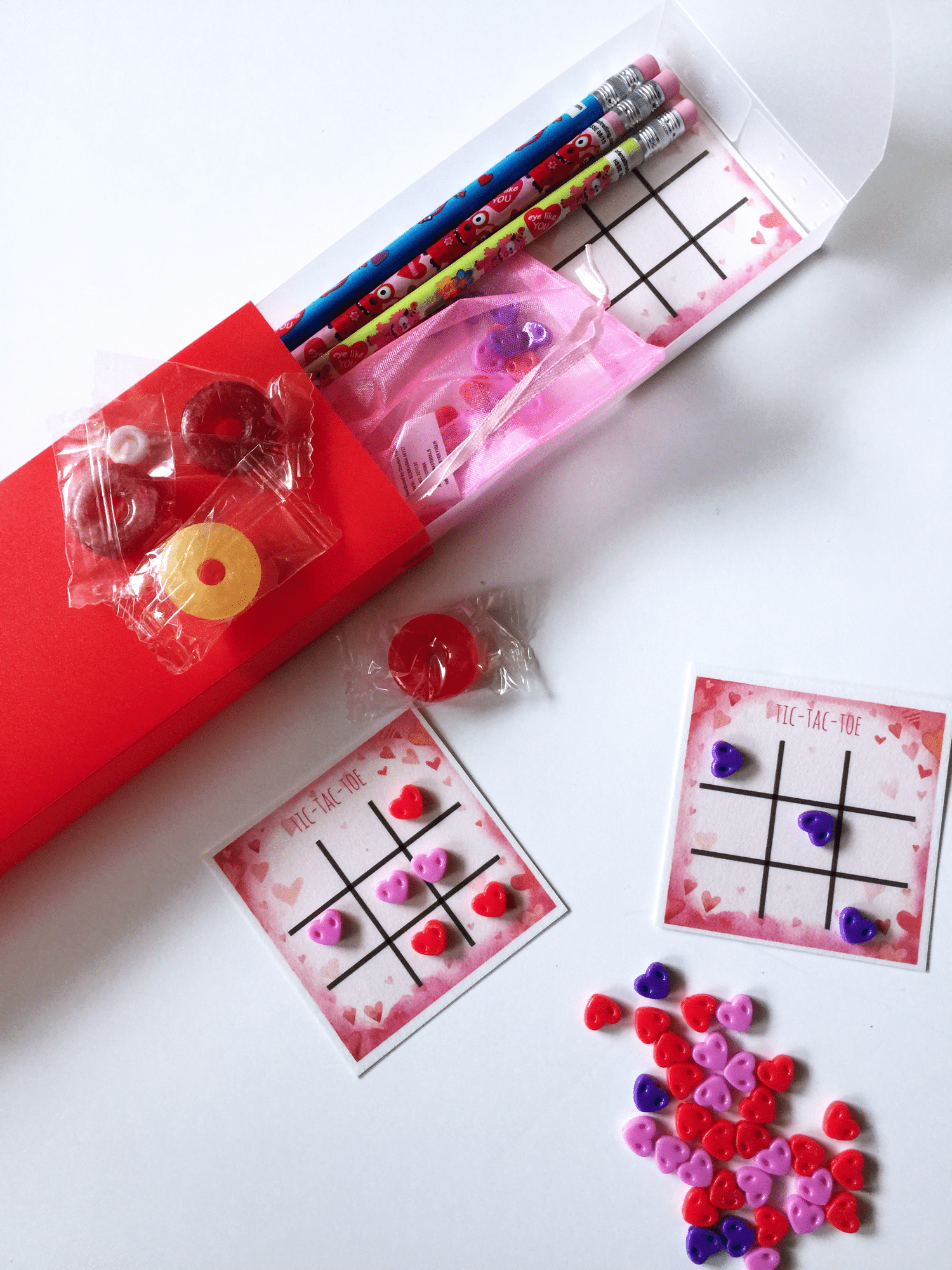 Valentine s tic tac toe reusable board everything