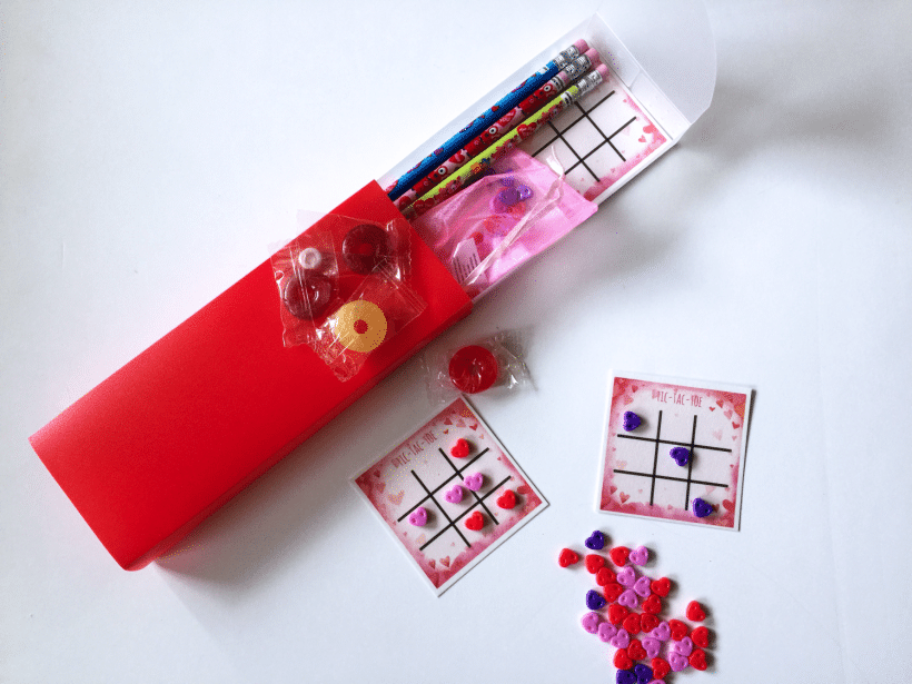 Reusable Valentine's with Free tic-tac-toe printable and more