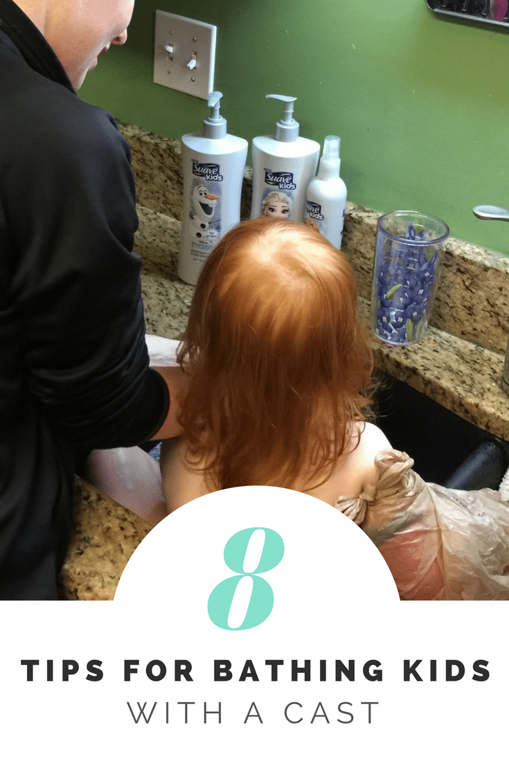 8 tips for bathing kids with a cast