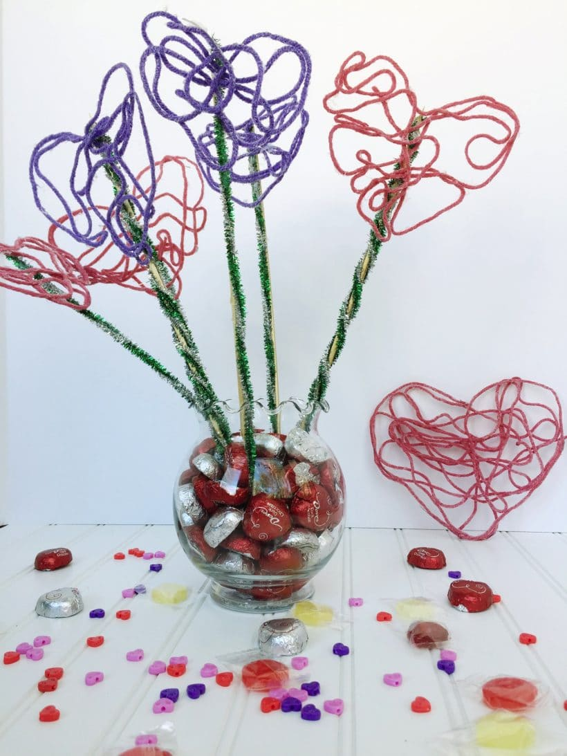 Yarn Heart Bouquet Inspired with VIDEO